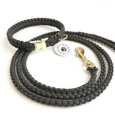 Braided Dog Leash and Collar Set Small Dog Collar and Leash