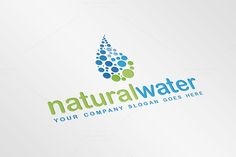 Check out Natural Water Drop Logo Template by JigsawLab on Creative Market