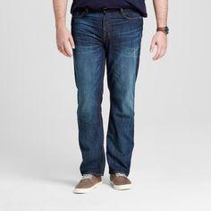 Men's Big & Tall Slim Straight Fit Jeans Dark Wash