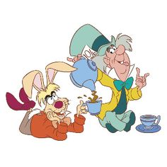 March Hare & Mad Hatter, Alice in Wonderland Alice In Wonderland Characters, Alice In Wonderland Tea Party, Walt Disney Characters, Disney Posters, Mad Hatter Disney, Were All Mad Here, Mickey Mouse And Friends, Disney Drawings, Print Pictures