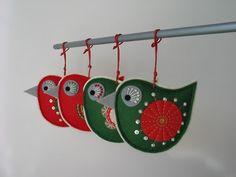 Vánoční dekorace- ptáček