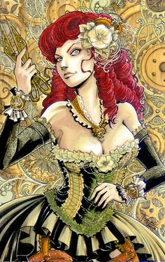 Steampunk Catwoman, Harley quinn & Poison Ivy by Tepai Pascual_____!!!!