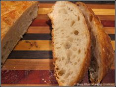 An easy, no-knead, Dutch oven crusty bread recipe. 4 Ingredients. So easy you'll never buy bread again! #homemadebread #crustybread #dutchovenbread Artisan Bread Recipes, Dutch Oven Recipes, Easy Bread Recipes, Cooking Recipes, Healthy Recipes, Dough Ingredients, Cooking Ingredients, Hard Bread, Dutch Oven Bread