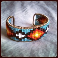 Items similar to Tribal Jewelry - Seed Bead Bracelet on Etsy Beaded Bracelet Patterns, Bead Loom Patterns, Beading Patterns, Beaded Jewelry, Jewellery, Native Beadwork, Native American Beadwork, Jewelry Illustration, Loom Beading