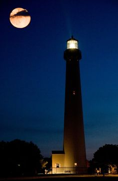 The Cape May Lighthouse located in Cape May Point, New Jersey