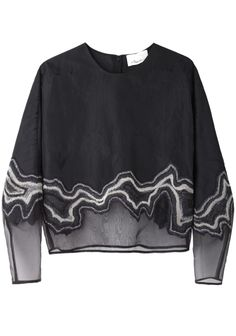 3.1 Phillip Lim / Embroidered Organza Top