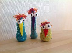 hækle høns gratis opskrift Crochet Birds, Easter Crochet, Crochet For Kids, Crochet Animals, Knit Crochet, Chrochet, Diy Craft Projects, Diy Crafts For Kids, Holidays And Events