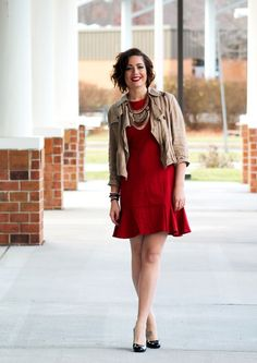 Perfect red dress for the holidays up on the blog