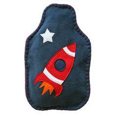Rocket hot water bottle cover - nickynackynoo