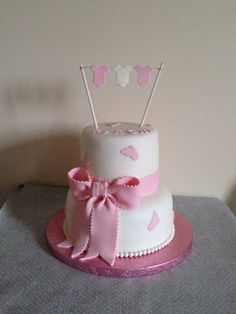 Cute Baby Shower 'It's a Girl' Cake Girl Cakes, Celebration Cakes, Cute Babies, Baby Shower, Inspire, Boutique, Desserts, Food, Meal