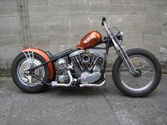 ϟ Hell Kustom ϟ: Harley Davidson FLH 1966 By Luck Motorcycles Harley Bobber, Harley Bikes, Harley Davidson Chopper, Harley Davidson Motorcycles, Motos Bobber, Bobber Bikes, Scrambler, Hd Vintage, Vintage Bikes