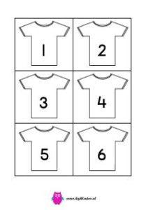 WK shirts 1 t/m 11. Te gebruiken voor leggen getallenrij of coöperatieve spelletjes.