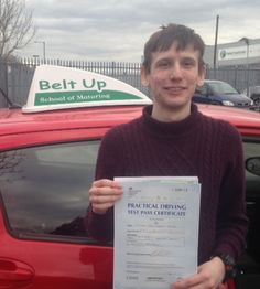Michael Brown passed his car test FIRST TIME with our instructor, Dave, in the Toyota Yaris. Well Done