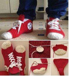 Crochet Converse Slippers – DIY