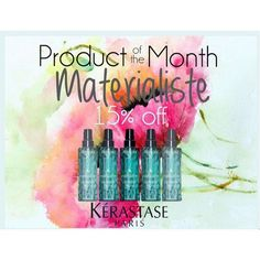 This is the perfect product for summer! With airy volume and bounce, Materialiste gives your hair weightless, flexible hold. 15% off today and through June! #summer #product @kerastase_official #kerastase #materialiste #productofthemonth #flexiblehold #thebest #stylingproduct #salonlife