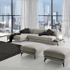 Scroll on our robust catalogue to find out the wide variety of L-shaped corner sofas. We can provide you with contemporary setters, eco-leather settees, bed sofas, or even modular units! Corner Sofa Uk, Sofa Bed, Couch, Beautiful Sofas, L Shaped Sofa, First Home, Living Room Designs, Living Rooms, Showroom