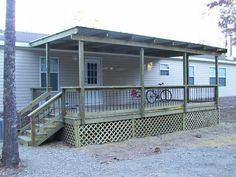 front porch designs for moblie homes | mobile homes gable roof designs and ideas this is the same house with ...