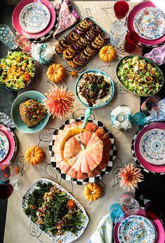 The Ultimate Vegan Thanksgiving - Heather Christo Gluten Free Thanksgiving, Thanksgiving Side Dishes, Thanksgiving Recipes, Holiday Recipes, Pumpkin Puree, Pumpkin Spice, Roasted Broccolini, Rice Stuffing, Vegan Gravy