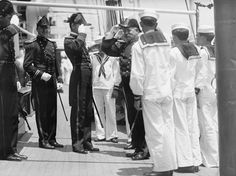 June 3, 1912: Rear Admiral Aaron Ward, U.S.N. commander of the 1st Battleship Division coming onboard SMS Moltke.