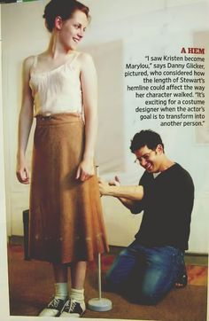 Kristen OTR wardrobe fitting photo in Entertainment Weekly