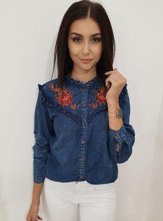 Ottanta - zakupy internetowe Dallas, Ruffle Blouse, Denim, Jeans, Jackets, Tops, Women, Fashion, Down Jackets