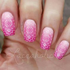 Pink Ombre & pattern