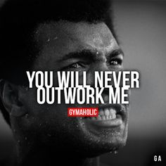 No. Srsly! I feel like people @ the gym are moving in slow motion sometimes.. You Will Never Outwork Me! I'm hungry! I'm humble! I put the best of me in everything!