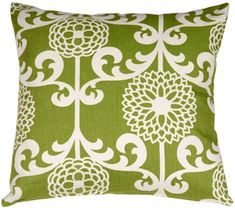 The Waverly Fun Floret Spruce Throw Pillow from Pillow Decor is a beautiful stylized floral print pattern in soft cream and chartreuse green. The pattern is a classic with a contemporary twist. Orange Throw Pillows, Colorful Pillows, Throw Pillow Sets, Toss Pillows, Outdoor Throw Pillows, Accent Pillows, Fun Prints, Cotton Pillow, Custom Pillows