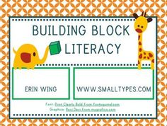 Play with blocks and build literacy skills--Free!