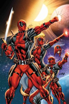 Deadpool Corps. Marvel comics.