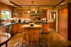 Hand Made Arts And Crafts Kitchen by Hoffmann Woodworking & Fine Furniture | CustomMade.com