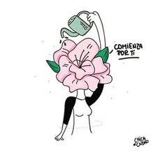 Comienza por ti 👉@mujeresinteresantes 👈 #mujeresinteresantes 😍  Créditos: @imchicadeciudad Rose Wallpaper, Cartoon Wallpaper, Pretty Quotes, Reading Quotes, Yoga Quotes, Love You, My Love, Positive Words, Stickers