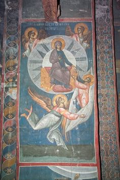 BLAGO : Decani : 229 Assumption with Delivery of the Belt to Apostle Thomas Byzantine Icons, Byzantine Art, Religious Icons, Religious Art, Art Icon, Adam And Eve, Orthodox Icons, Mother Mary, Christian Art