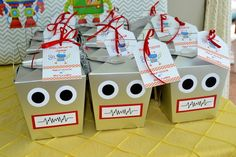 22 Adorable Ideas For An Epic Robot-Themed Birthday Party Adopt a Robot party favors