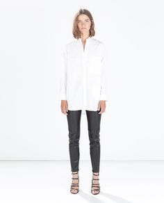 ZARA - NEW THIS WEEK - FAUX LEATHER LEGGINGS WITH SEAM AT THE KNEE