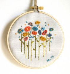 Hello Beautiful Embroidery Hoop / Repurposed by ThePennyRunner
