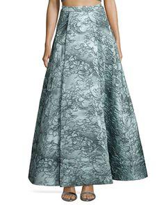 Floral Jacquard Ball Skirt  by Alice + Olivia at Bergdorf Goodman.