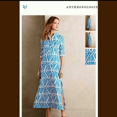 Virginia Johnson Xs Kaikoura Midi Dress Anthro