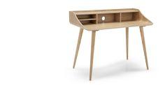 The Esme Desk, in Ash. Add some functional finesse to your office. MADE.COM Home Office, Office Desks, Door Desk, White Wooden Floor, Monochrome Pattern, Flat Ideas, Scandinavian Interior Design, Desk Storage, Scandi Style