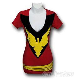 Dark Phoenix Women's Costume T-Shirt . Gorgeous V-neck!