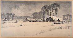 Schilderijen te koop, Galerie Wijdemeren Breukeleveen, Kunstschilder, Expositie, Toon de Jong, wintergezicht