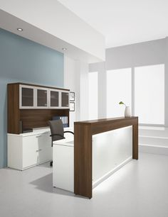 home office reception desks contemporary and modern office grey built ins and a neutral palette west loop condo home office