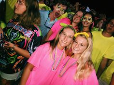 neon night school spirit week High School Games, High School Football Games, High School Life, Hs Football, Football Themes, Friday Football, Night School, School Fun, School Spirit Days