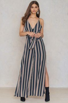 0c78a22b7a7 Womens Next Blue Stripe Linen Blend Jumpsuit - Blue in 2019 ...