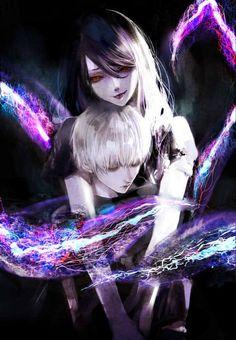 Kaneki and Rize
