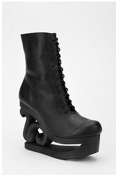 Ice Skate boots! By who else - Jeffrey Campbell. Find em at Urban!