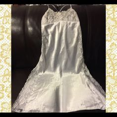 """Victoria Secrets Bridal Collection Lace Peignoir This Collection is """"Sold Out"""" and you can no longer purchase anywhere.  Features: slit on both sides with see-thru lace going down both sides of gown, adjustable shoulder straps for length Victoria's Secret Intimates & Sleepwear"""