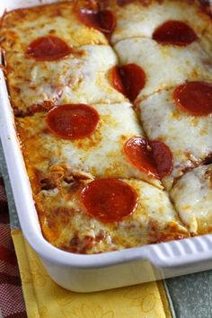 Pizza Spaghetti Bake ~ What Megan's Making