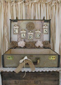 Vintage Suitcase Wedding Card Holder by TheShabbyChicWedding, $135.00