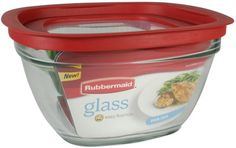 Rubbermaid 11-1/2-Cup Glass Food Storage Container w/ Easy Find Lid #affiliate